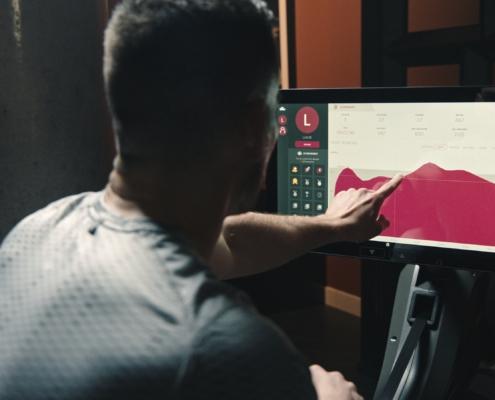 rameur interactif aviron tactile écran