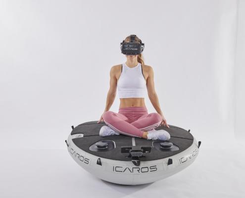 fitness virtuel casque vr icaros cloud